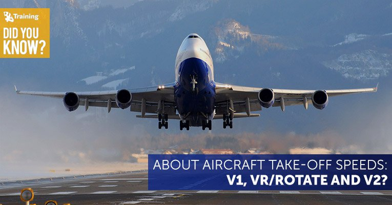 did you know about aircraft take off speeds v1 vr and v2
